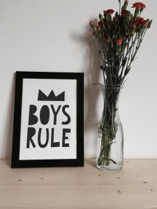 Boys Rule Plakat A4